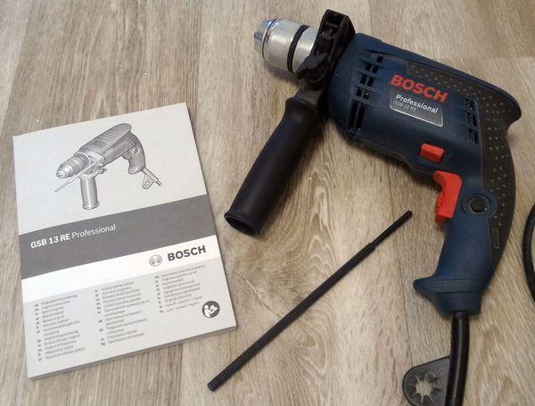 Bosch GSB 13 RE Professional Оригинальное руководство пользователя